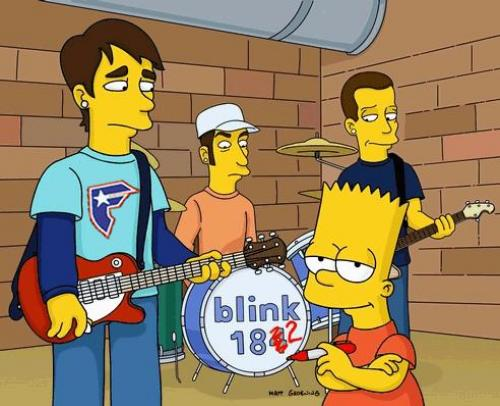 Blink 182 en los Simpsons
