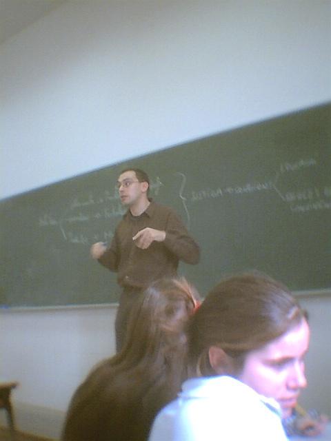 Profesor y sus explicaciones