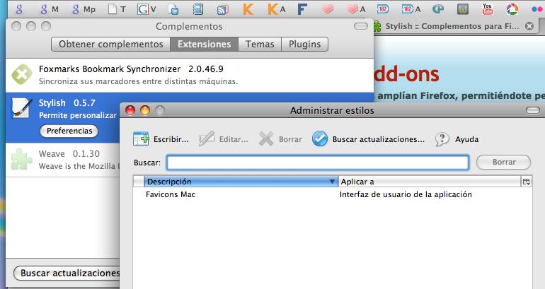 Favicons en Firefox en Mac