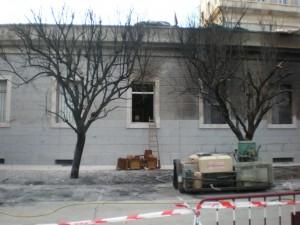 Lugar del Atentado, el día después de la bomba