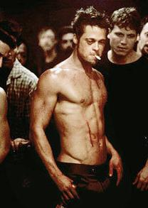 Tyler Durden in Fight Club