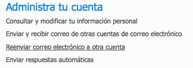 Reenviar correo de Hotmail