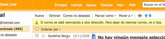 Hotmail reenviando