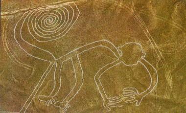 Líneas de Nazca representando a un mono