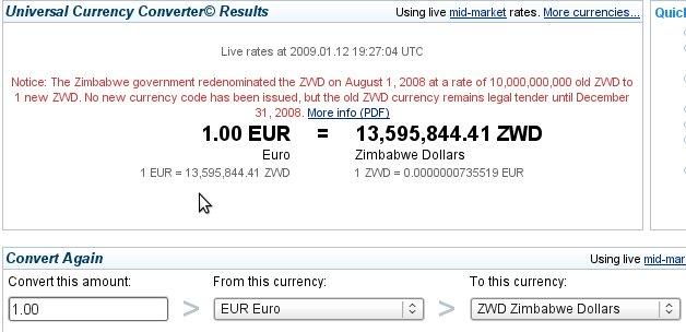 euro-zimbabwe-dollar
