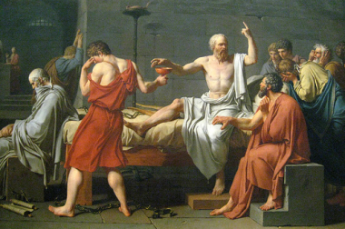 Muerte de Sócrates, por Jacques-Louis David