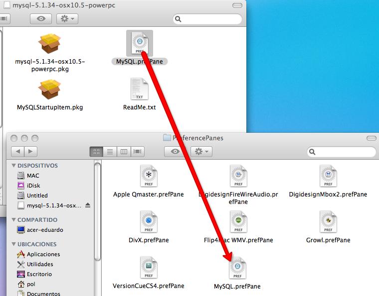 Instalando MySQL en tu Mac...