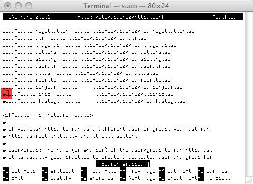 Instalando Apache en tu Mac