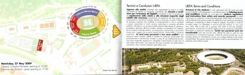 Mapa y condiciones de entrada al Estadio de Roma