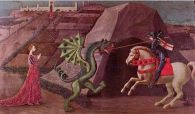 """""""San Jorge y el dragón"""" Paolo Ucello, 1470"""