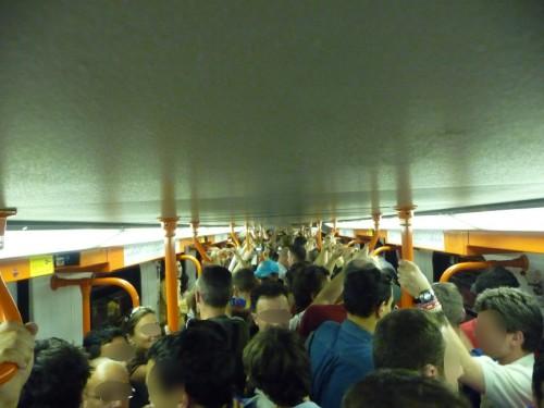El Metro iba un poco lleno