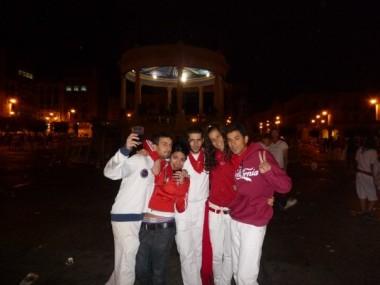 Mis amigos y yo en San Fermines