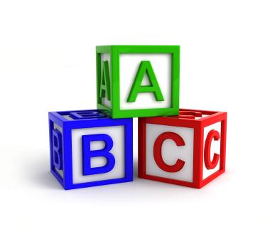 abc cubos dados colores