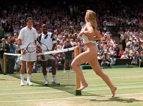 Melissa Johnson en Wimbledon, 1996