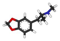 Estructura química del MDMA
