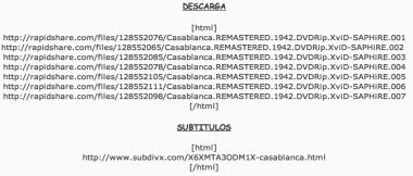 Descargar Casablanca de Rapidshare