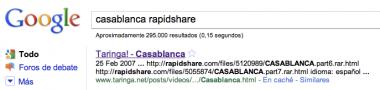 Descarga de Rapidshare de Casablanca en Google