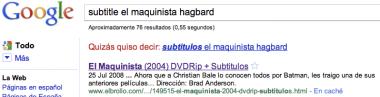 Buscando subtítulos de El Maquinista